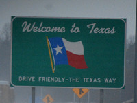 Our first welcome sign to TX 2013 CSC_0467