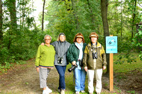 Karen, Anne, Rita & Jackie @ Pinconning Marsh after our 2nd Midwest Birding Symposium 9-2015