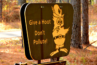 Ratcliff Lake Rec Area Hooty sign (remember him?)! 1-10-2015