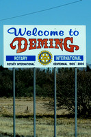 Deming, NM where we needed a tire fix and went to the shelter, but Festus said no