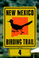 One of the birding trail signs in NM 2015